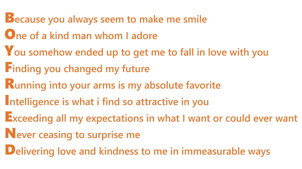 Acrostic poems by Life Reality